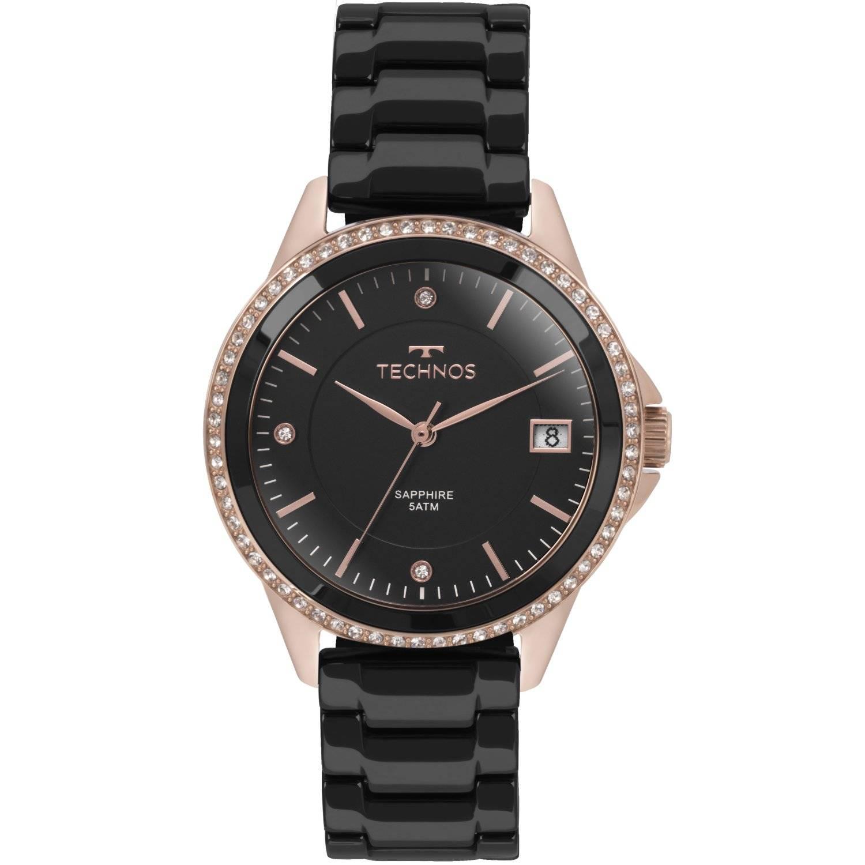 Relógio Technos Feminino Elegance Ceramic - Sapphire 2315KZR/4P