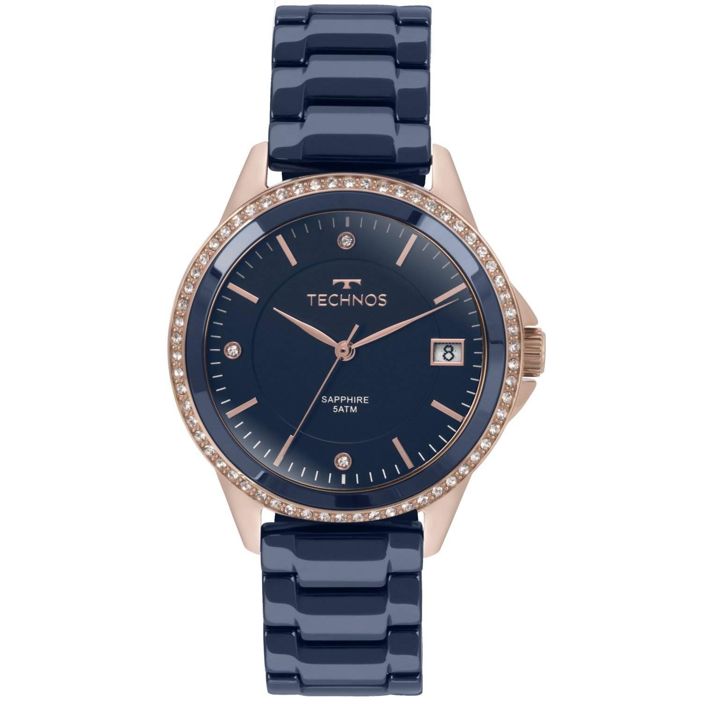 Relógio Technos Feminino Elegance Ceramic - Sapphire Quartz 2315KZT/4A
