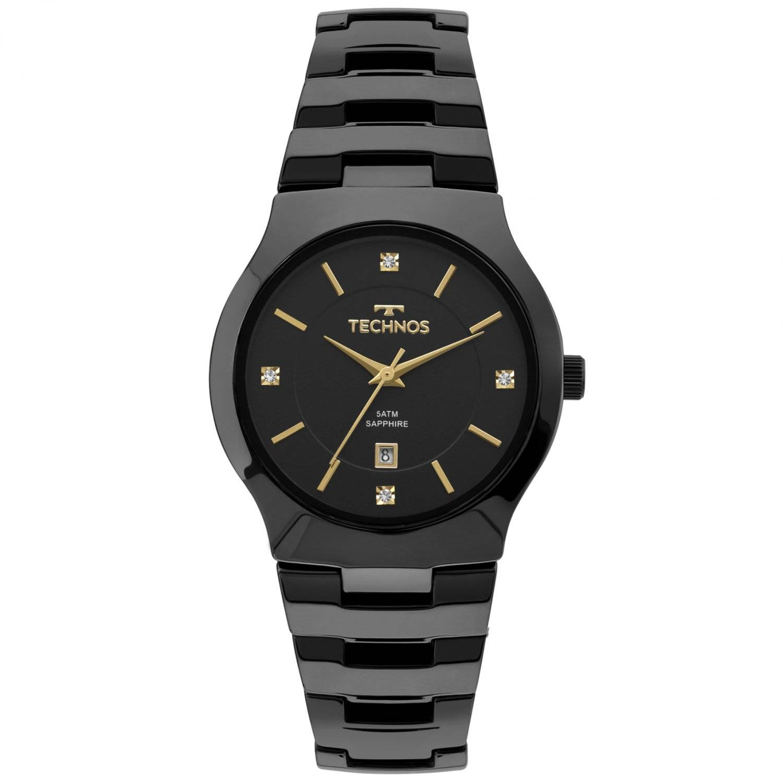 Relógio Technos Feminino Elegance Ceramic Sapphire Quartz GN10AU/4P