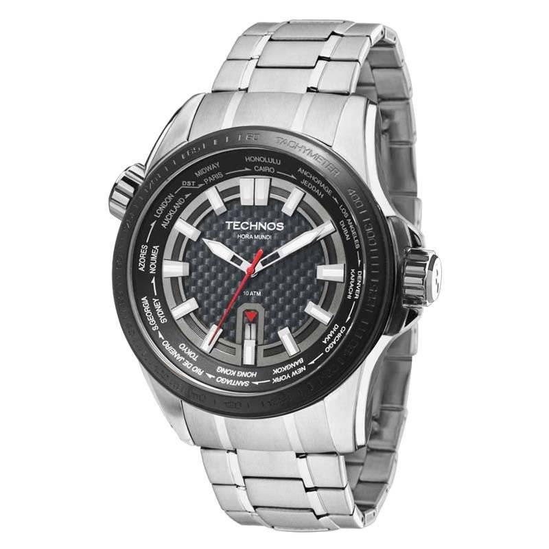 Relógio Technos Performance TS Carbon Hora Mundi Masculino 2115KNU/1K