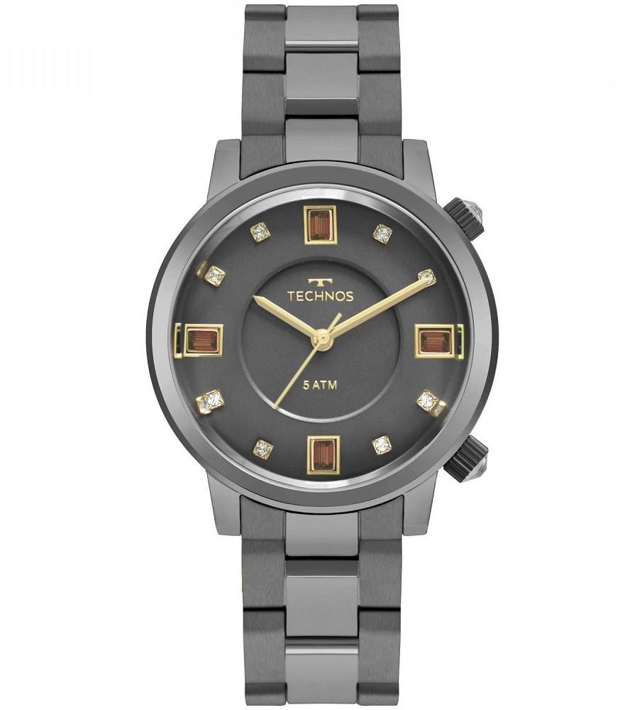 Relógio Technos Rocks Elegance Crystal 2039BW/K4C