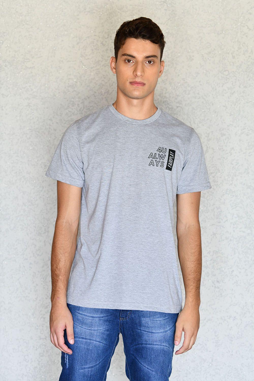 Camiseta 4U Always Cinza