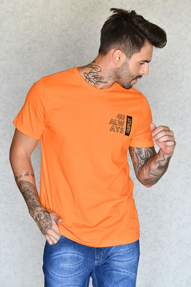 Camiseta 4U Always Laranja