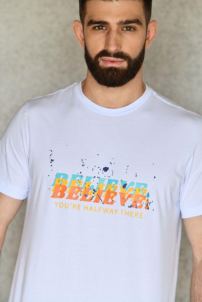 Camiseta Believe Branca