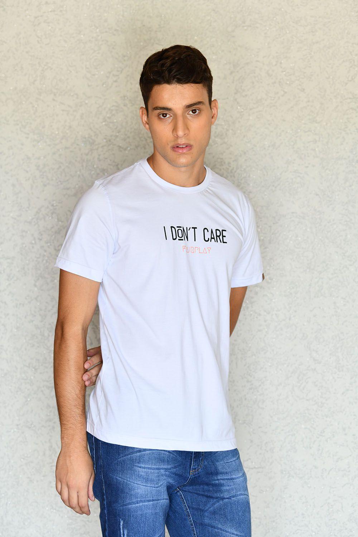 Camiseta I Don't Care Branca