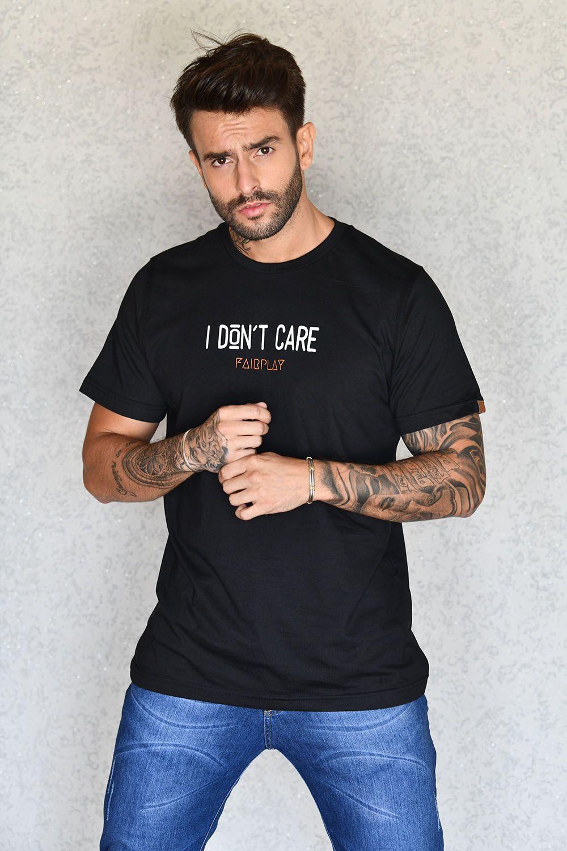 Camiseta I Don't Care Preta
