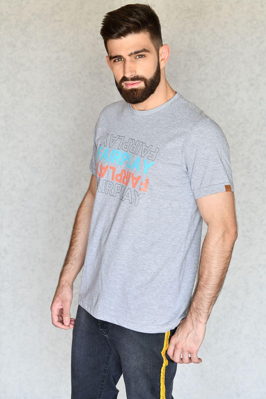 Camiseta Mirror Cinza
