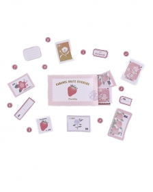 Caixinha de adesivos Caramel Waltz Rosa