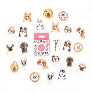 Caixinha de adesivos - Cute dogs