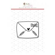 Carimbo de polímero - Carta de amor