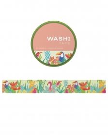 Washi tape - Tropical Scene