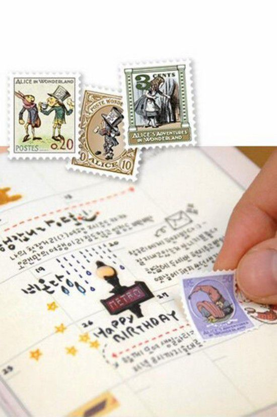 Adesivo - Alice Vintage Stamps