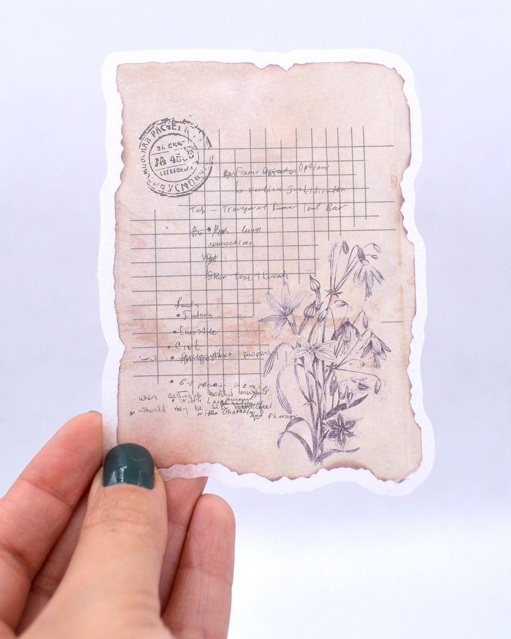 Adesivo - Cartas e Flores