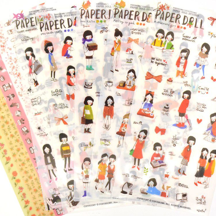 Adesivo - Paper Doll Pony Brown