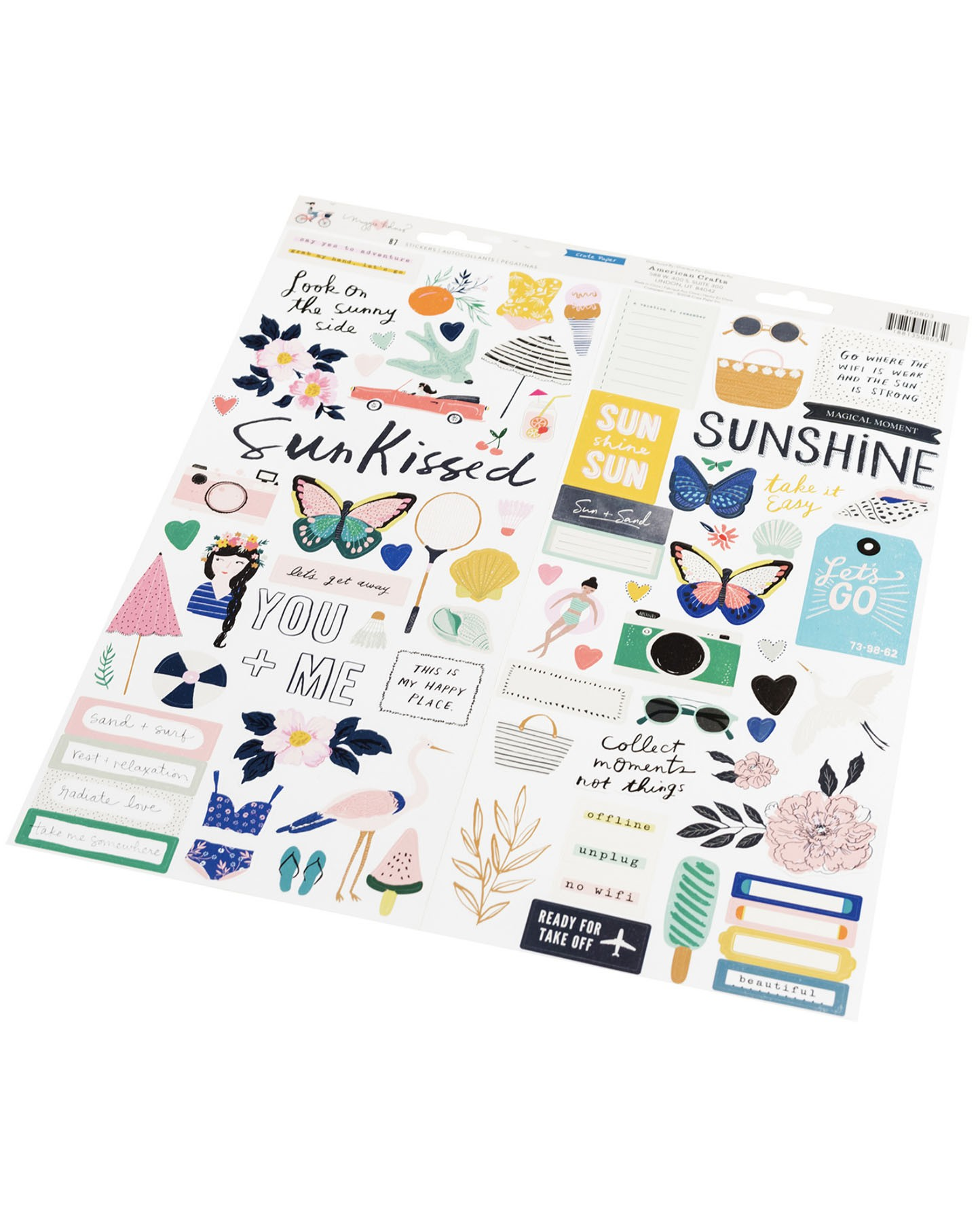 Adesivos - Sun kissed Crate Paper