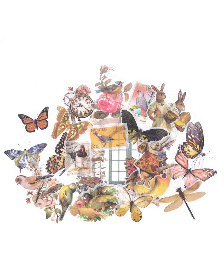 Adesivos Vintage - Butterfly