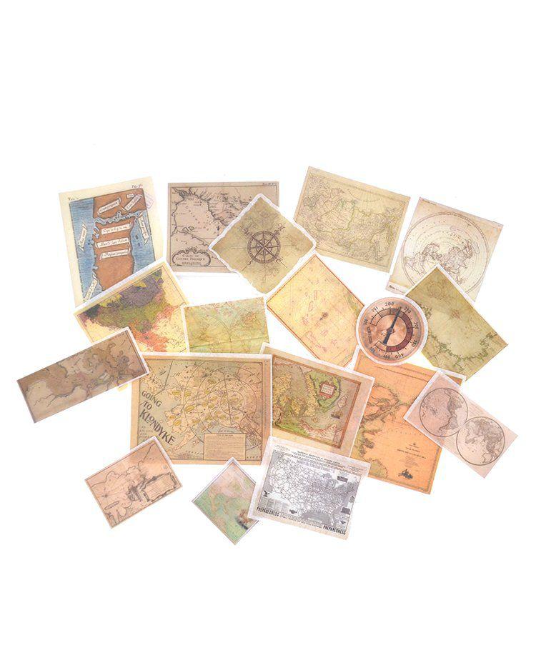 Adesivos Vintage - Maps