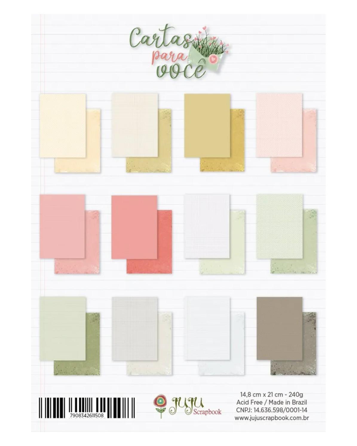 Bloco de folhas A5 - Folhas lisas Cartas para você