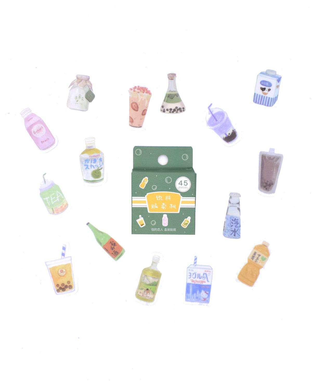 Caixinha de adesivos - Bubble Tea