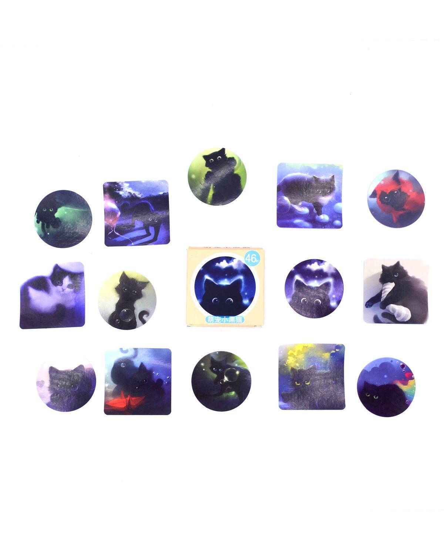 Caixinha de adesivos - Black Cat