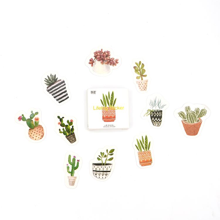Caixinha de adesivos - Cactus