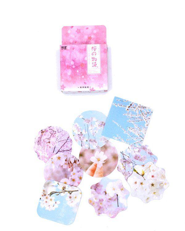 Caixinha de adesivos - Cerejeira