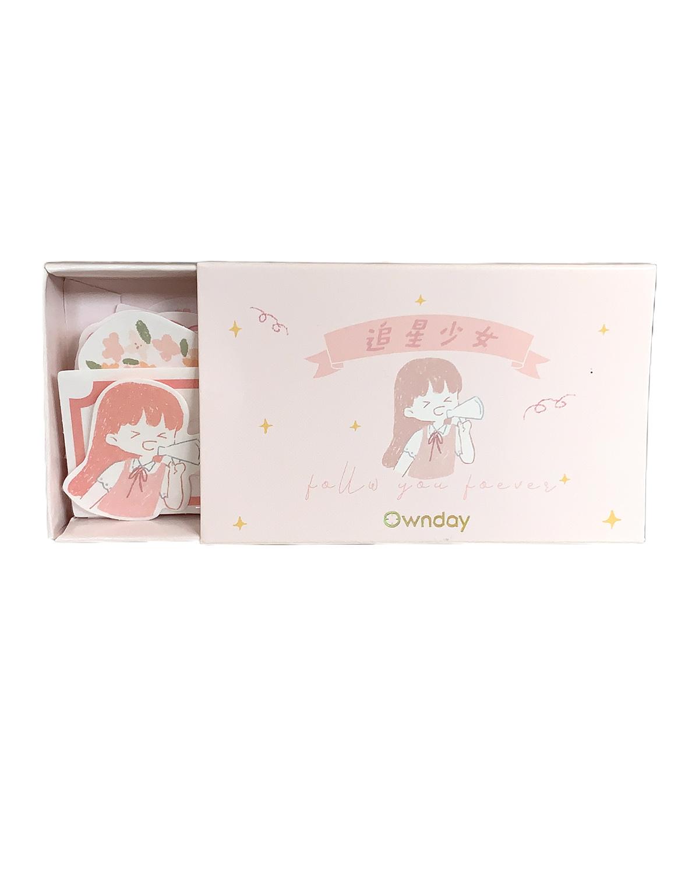 Caixinha de adesivos Colors Rosa