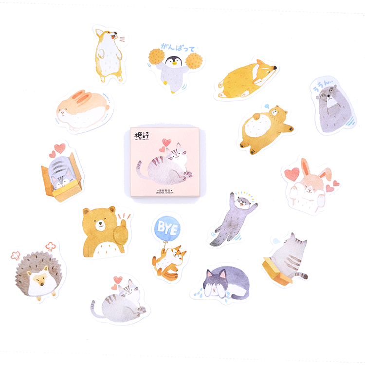 Caixinha de adesivos - Cute pets