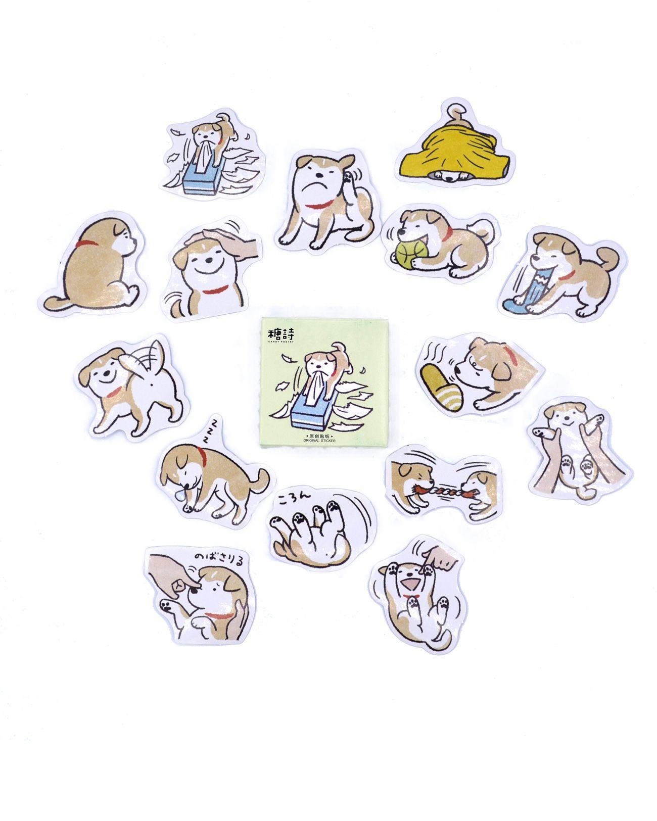 Caixinha de adesivos - Dogs