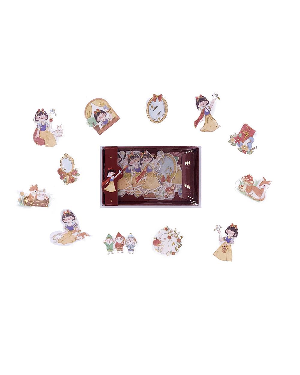 Caixinha de adesivos Fairytale - Branca de Neve
