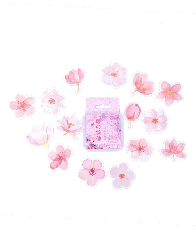 Caixinha de adesivos - Flores