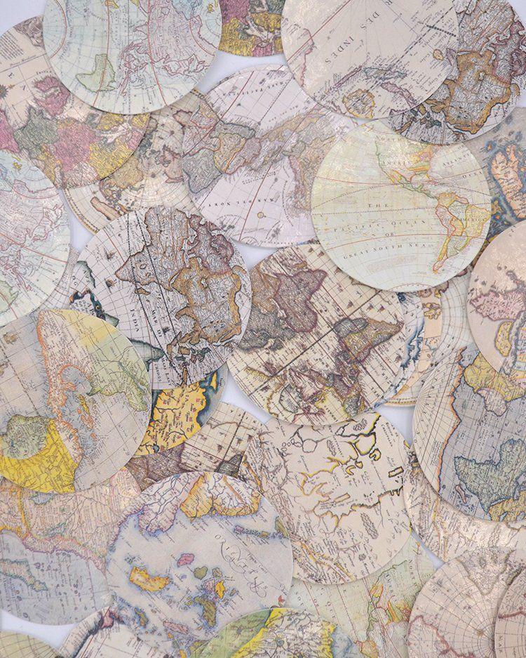 Caixinha de adesivos - Mapas Antigos