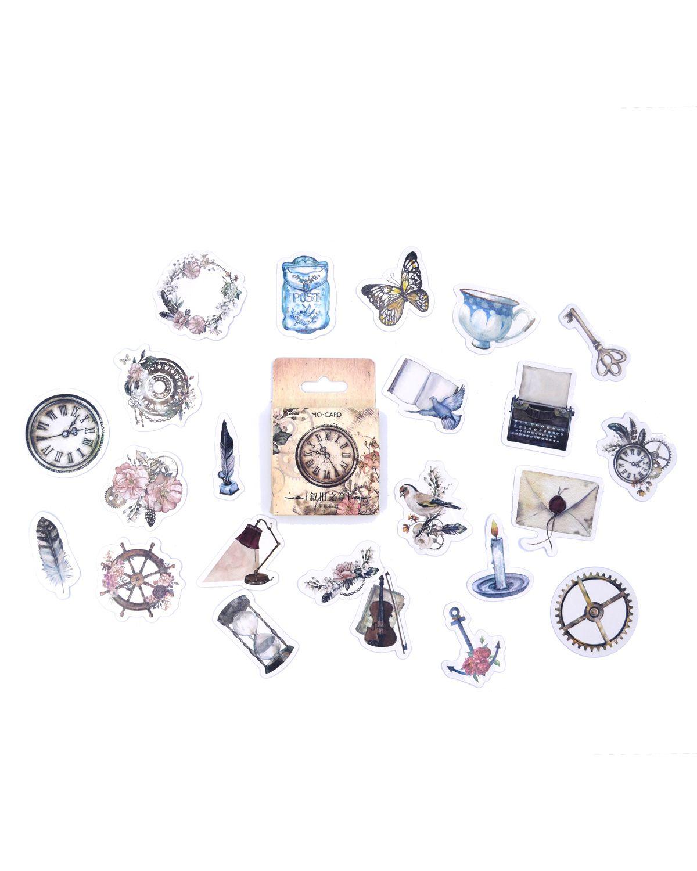 Caixinha de adesivos - Relógio