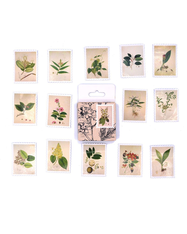 Caixinha de adesivos - Selos Botânicos