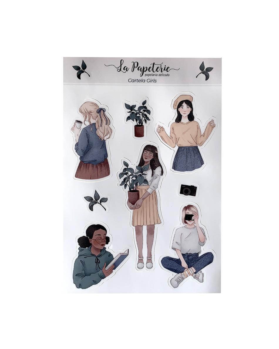 Cartela de adesivos vinílicos - Girls