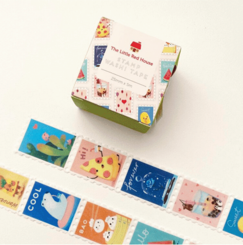 LINHA SPECIALS - Washi tape Animals Stamp & Food Stamp