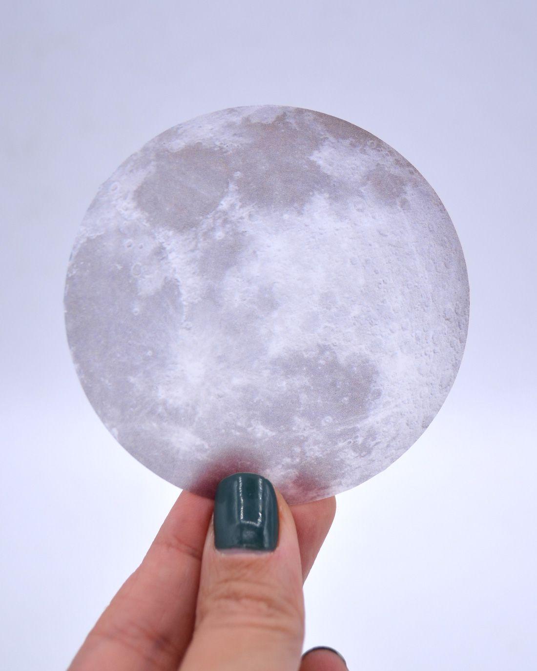 Die cut de papel vegetal - Lua