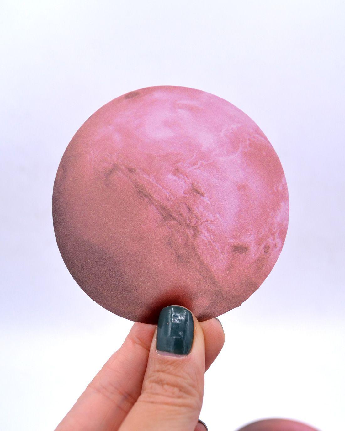 Die cut de papel vegetal - Marte
