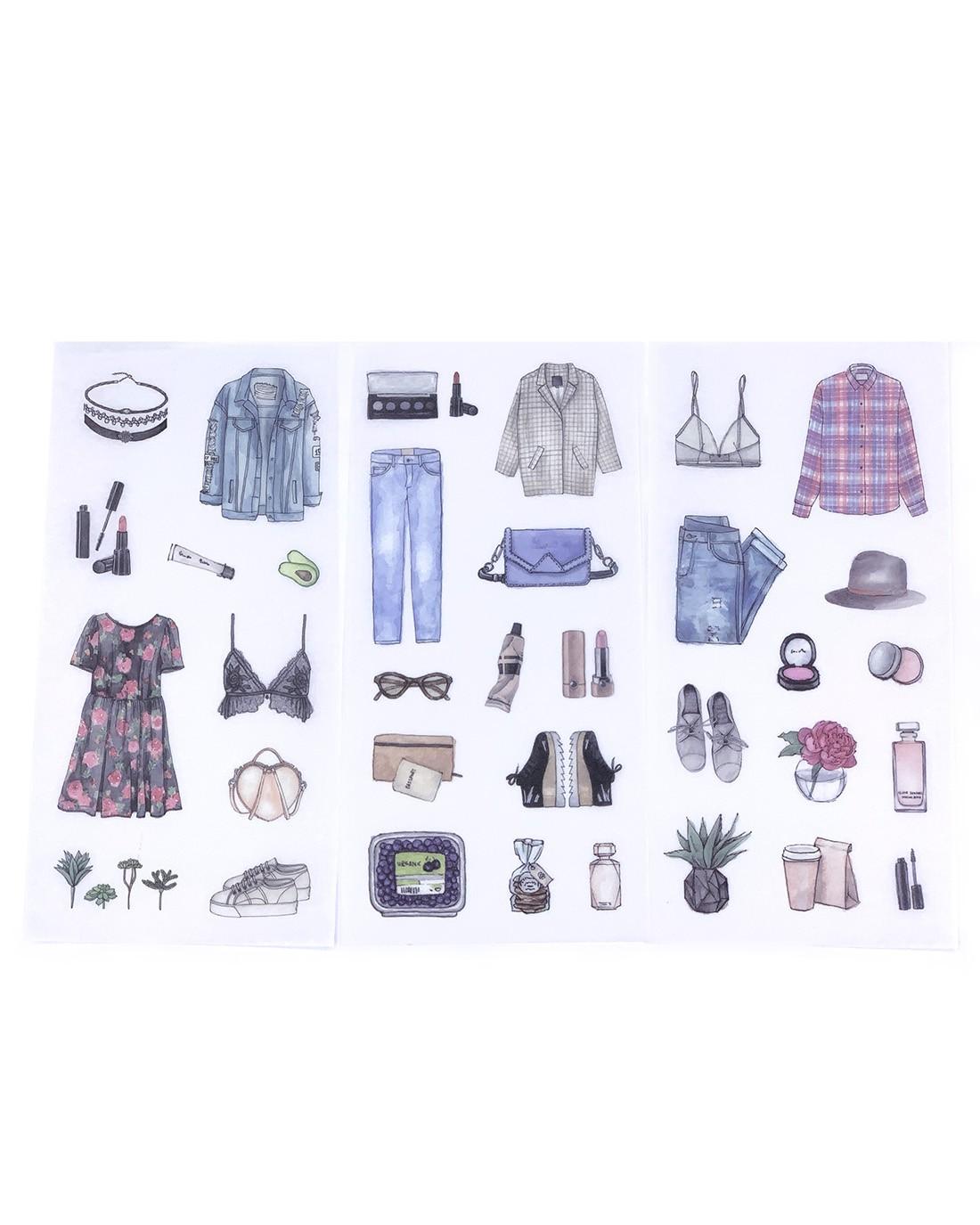 Kit de adesivos Outfit