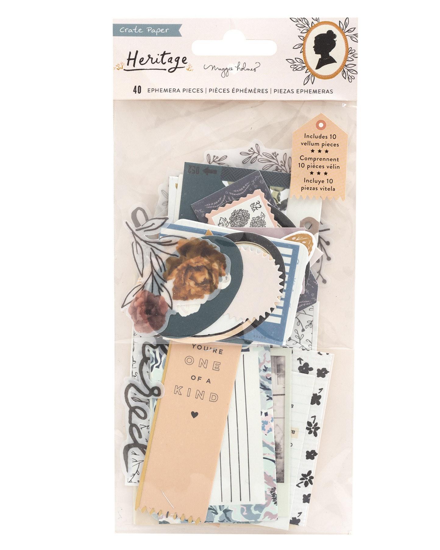 Kit de apliques - Heritage Crate Paper