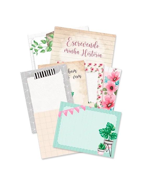 Kit de cards - Escrevendo a minha história
