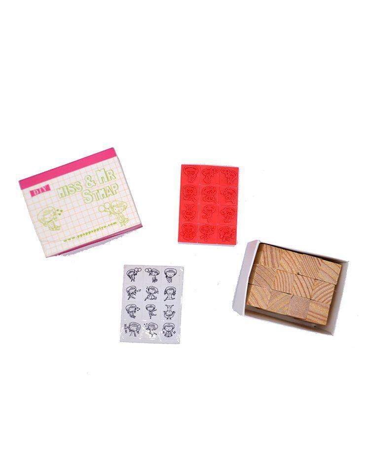 Kit de carimbo - DIY menininha