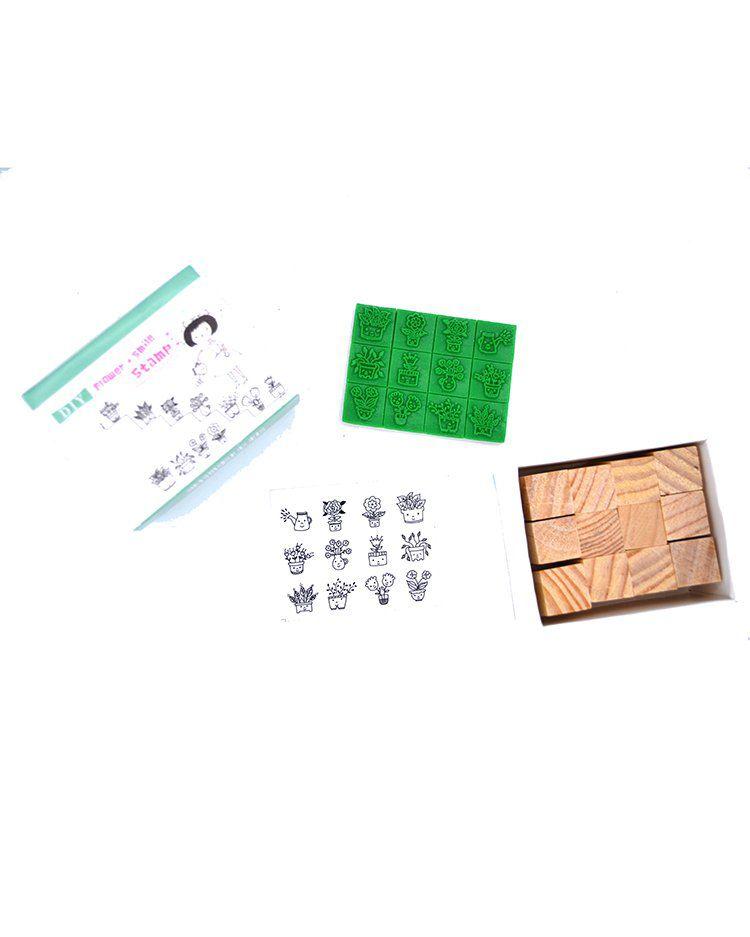 Kit de carimbo - DIY plantinha