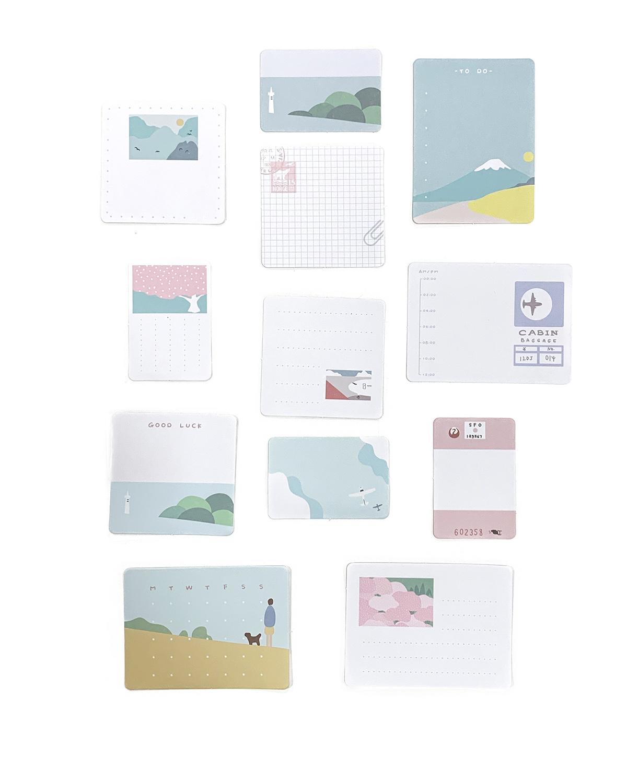 Kit de Memo Sticker - Travel