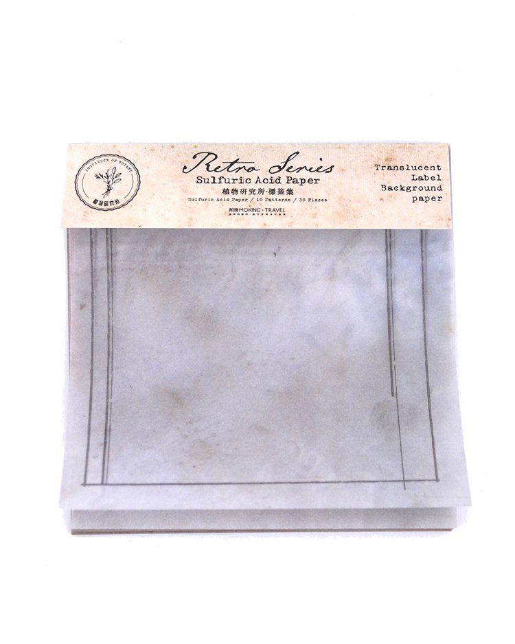 Kit de rótulos em papel vegetal
