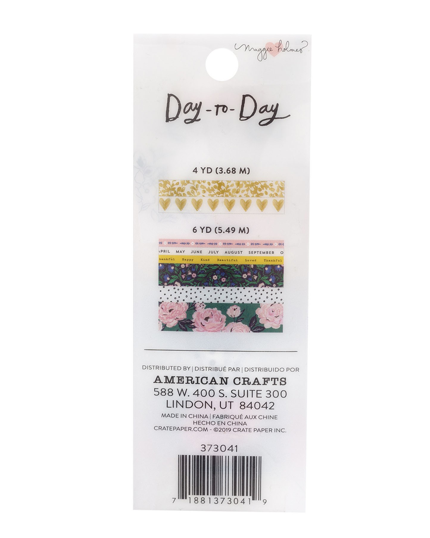 Kit de washi tapes - Day to day Maggie Holmes