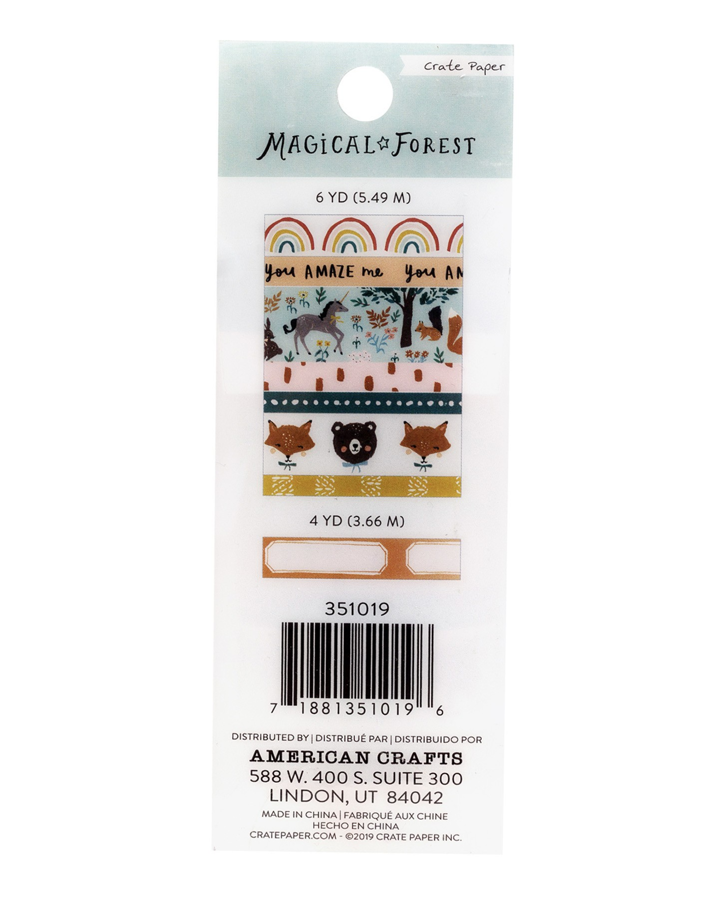 Kit de washi tapes - Magical Forest Crate Paper