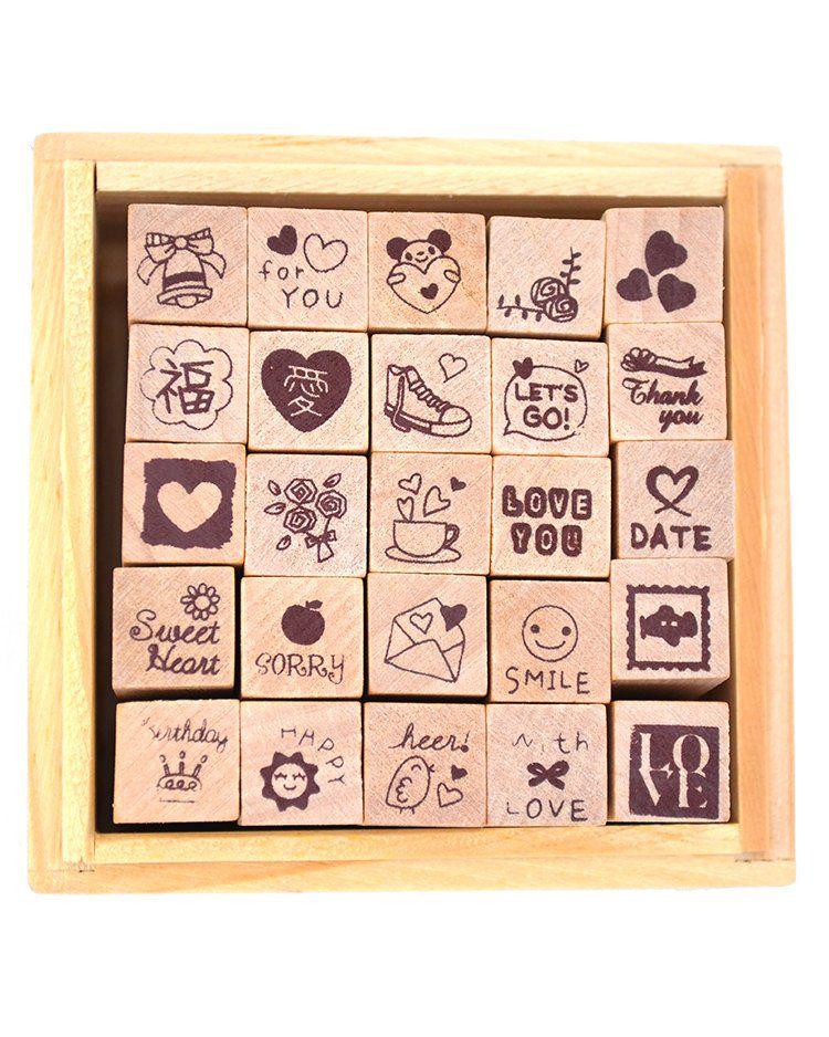 Kit mini carimbos - Love Diary