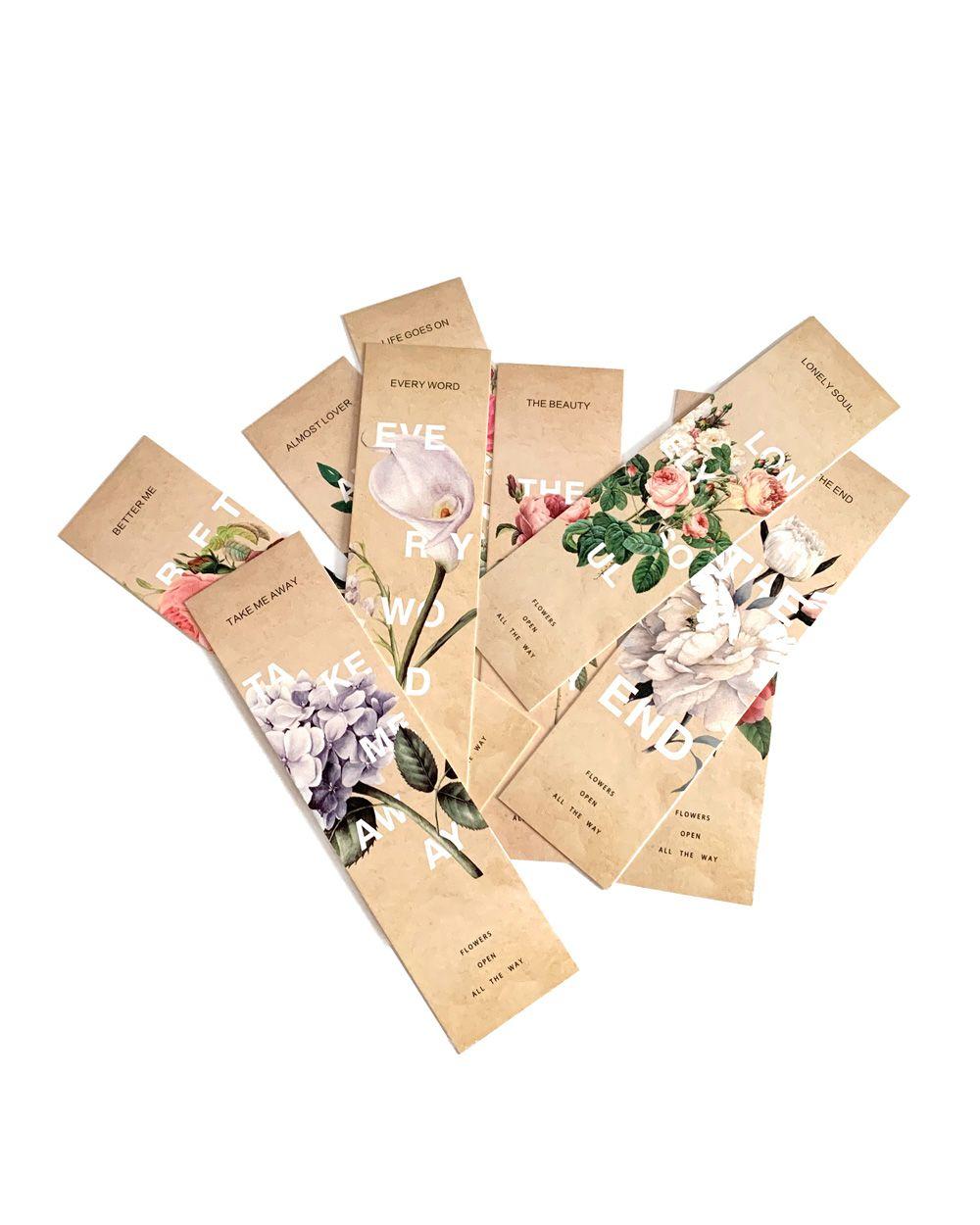 Marca página - Flowers