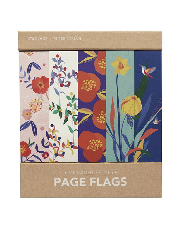 Page flags - Midnight petals